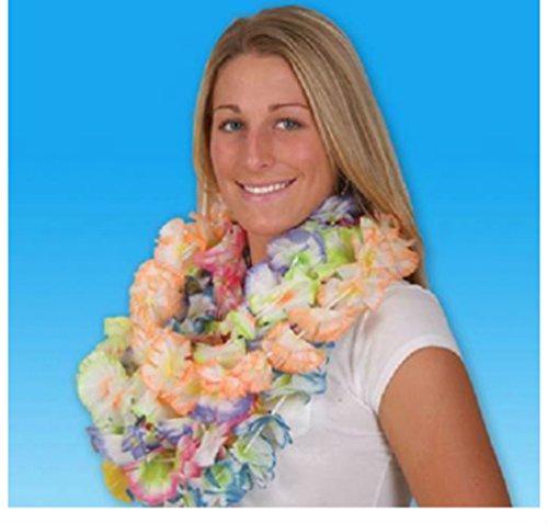 50 JUMBO CARNATION LEIS Silk Hawaiian Luau Flower Tropical -