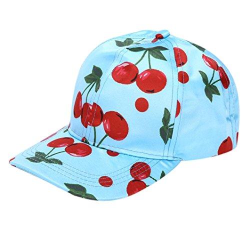 [Mokao Men Women Fruit Printing Baseball Cap (Blue)] (Fruit Hat Lady)