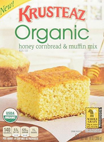 Krusteaz, Organic Mixes, 14oz Box (Pack of 3) (Choose Mixes Below) (Honey Cornbread & Muffin Mix)