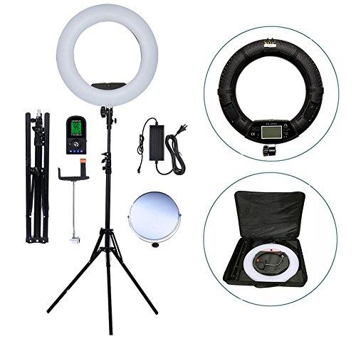 Ring Camera Light Youtube: Yidoblo 18 Inch 480 LED Ring Light Kit With Makeup Mirror