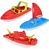 big water little boats - Fun Little Toys Bath Boat Toy, Pool Toy, 3 PCs Yacht, Speed Boat, Sailing Boat, Aircraft Carrier, Fisher Toy Set for Birthday Party, Baby Gift Toddler Toys
