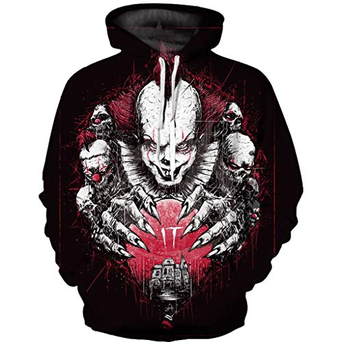 FEDULK Women Mens Halloween Sweatshirt Hoodies Scary