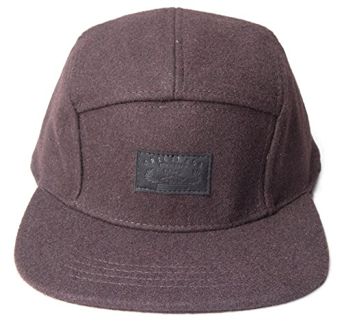 5-panel-hats-one-size-solid-brown