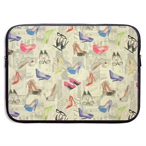 Jingclor Business Briefcase Sleeve High-Heeled Shoes Creative Illustration Portable Laptop Protective Bag for MacBook Pro/MacBook Air/Asus/Dell