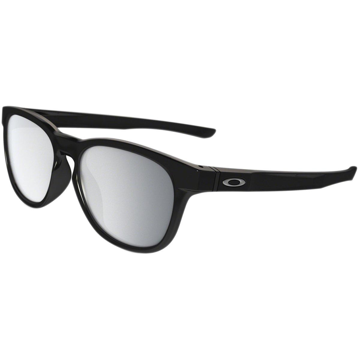 Oakley Stringer Sunglasses, Polished Black/Chrome Iridium, One Size by Oakley