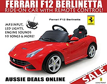 Amazon Com Licensed Ferrari Kids Ride On Car Toy Electric Car