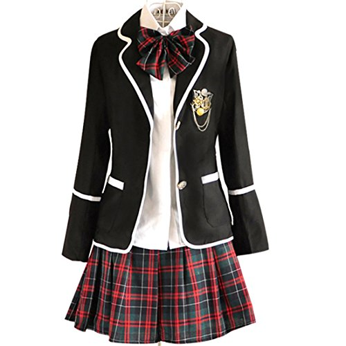 [URSFUR Womens British Style Japan School Uniform Sets Cosplay Costume Anime Girl (XXL, Style 11)] (Anime Woman Costume)