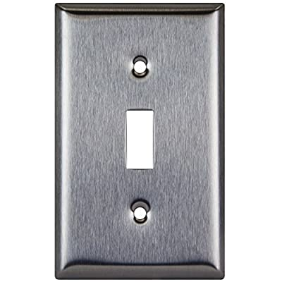 Enerlites Toggle Switch Stainless Steel Wall Plate, Standard Size