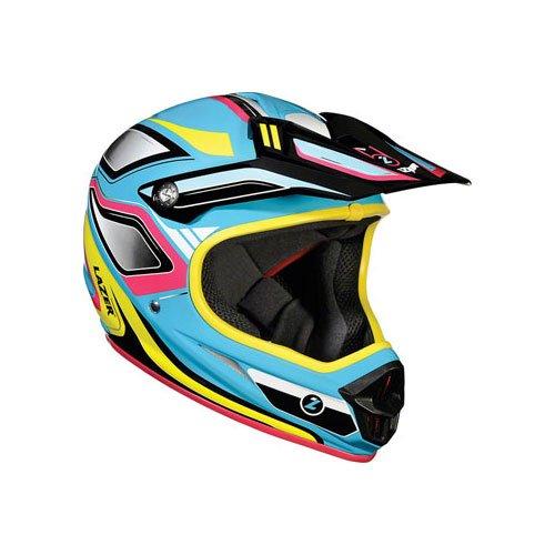 Lazer Phoenix Full-face Helmet: Blue/Yellow; LG