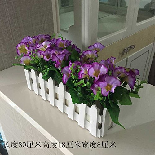 - Artificial flowers Fence Emulation flower fence Purple bugle Home decorations for Wedding Bouquet Birthday Bunch Hotel Party Garden Floral Decor Mother's Day-Dreamingces
