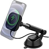 Spigen OneTap Pro Trådlös billaddare Designad för Magsafe (Kompatibel med iPhone 12, 12 Pro, 12 Pro Max, 12 Mini) med…