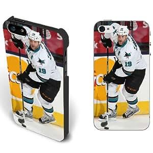 Buy NHL People Star Iphone 5/5s Case Cover for Teen Boys - San Jose Sharks NO.19 Guys Joe Thornton
