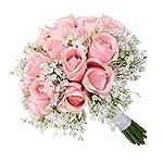 YJYdada-Wedding-Bouquet-Bouquet-Crystal-Rose-Pearl-Bridesmaid-Wedding-Bouquet-Bride-Artificial-Silk-Flower-B