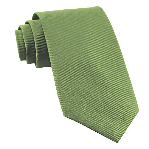 Extra Long Ties For Men Woven Big and Tall Tie Mens Ties : XL Solid Color Necktie (Sage Green)