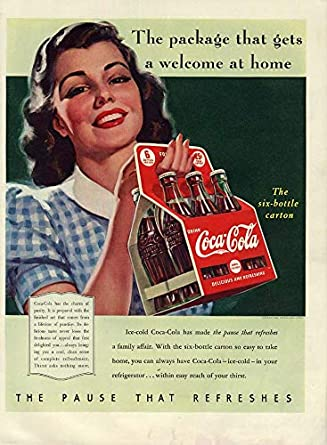 The package that gets a welcome at home Coca-Cola ad 1940