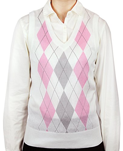 Women Argyle Sweater - 4