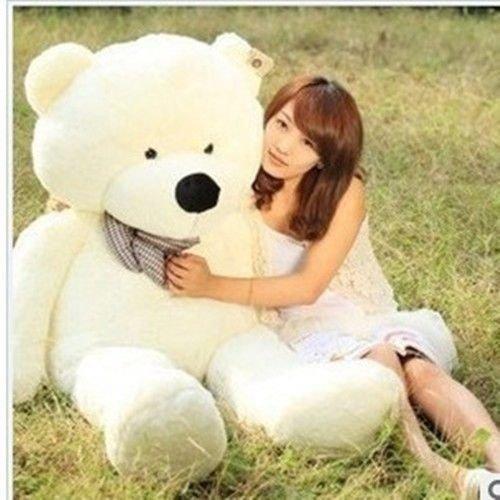 Stuffed Animal Teddy Bear Plush Soft Toy 100CM Huge Soft Toy White - 7