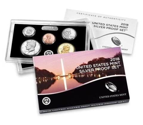 2018 S Silver Proof Set Mint Packaged (2018 Coin Proof Set)