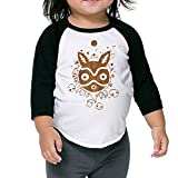 Princess Mononoke Fantasy Movie Toddler 3/4 Sleeve Raglan Tee Sportshirt