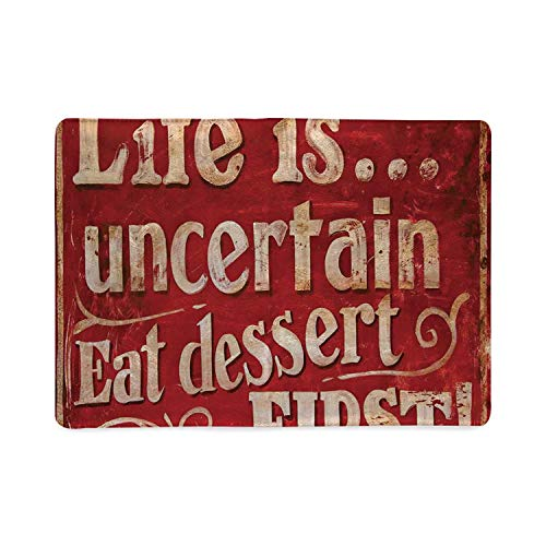 Vintage Utility Notebooks,Retro Classic Decorative Design for Restaurant and Food Symbols Signs Funny Diner Supper Decorative for Work,5.82