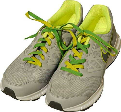 シルバー金属 スニーカー用リバーシブル靴紐(全19色) 40cm・45cm・50cm・55cm・60cm・65cm・70cm・75cm