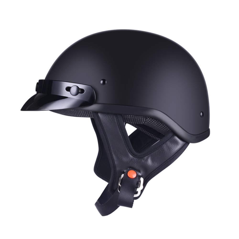 TZQ Vintage Half CoveROT Helm Unisex Motorrad Helm Harley Roller Schutzhelm