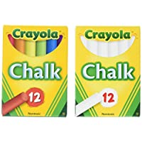 Crayola 2 Pack White Chalk + 2 Pack Color Chalk