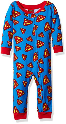 DC Comics Baby Boys' Superman Onesie, Blue, (Dc Comics Baby Clothes)