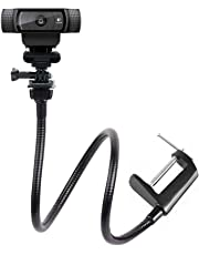 Webcam Mount,Camera Clamp Gooseneck Stand for Logitech Webcam Brio 4K, C925e,C922x,C922,C930e,C930,C920,C615-64cm length ¡