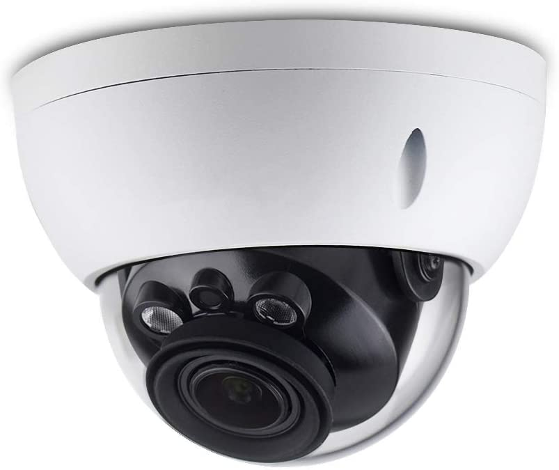 4MP HD Security POE IP Camera IPC-HDBW4433R-ZS, 2.7-13.5mm Motorized Varifocal Lens 5X Optical Zoom,Outdoor Network Surveillance Dome Camera, Micro SD Card 50m Smart IR,WDR IP67 IK10,ONVIF