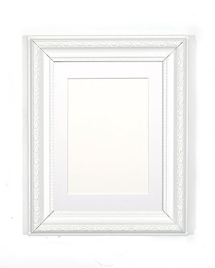 Amazon Frame Company White Ornate Shabby Chic Picturephoto