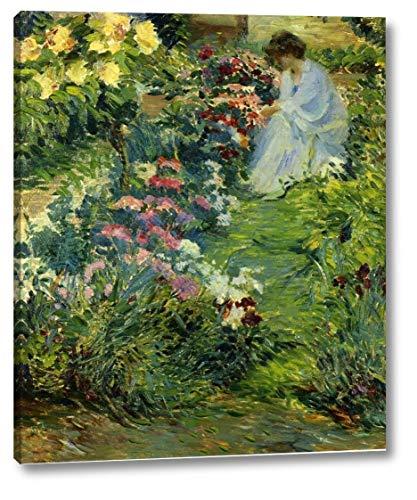 Woman in a Garden by John Leslie Breck - 18