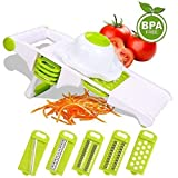 Mandoline Slicer w/ 5-Blades Side Storage, Premium Vegetables...