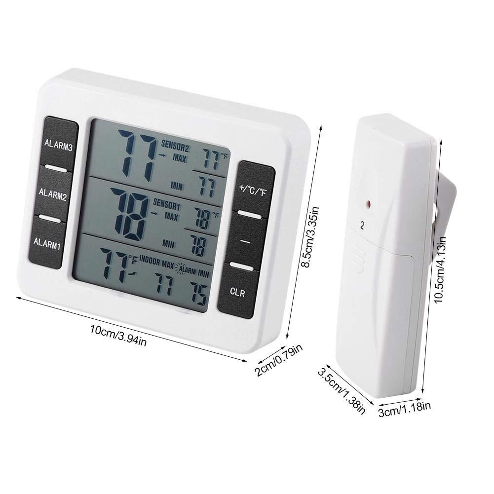 Termómetro digital para refrigerador, alarma audible digital ...