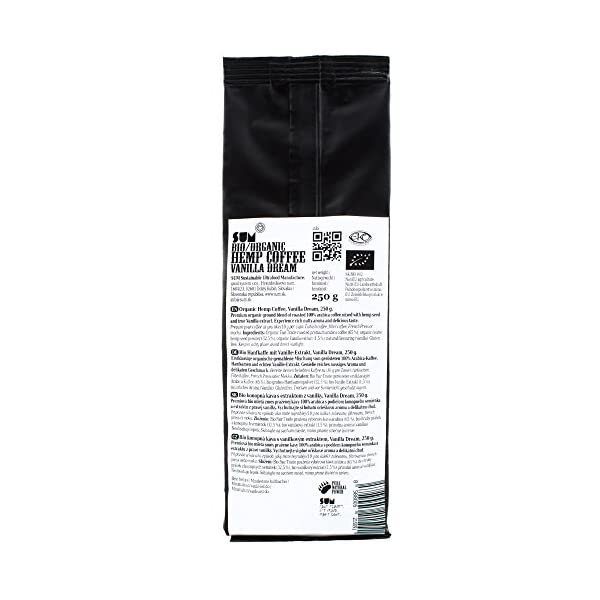 Hemp Coffee – Organic, Vegan and Gluten Free – 250 g (Vanilla Dream)