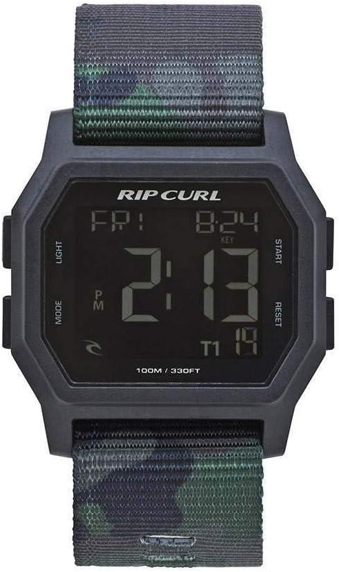 RIP CURL Reloj Digital para Hombre con Correa de cincha Atom Camo - Ligero y Resistente al Agua