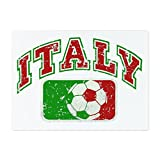 Glass Cutting Board Large Italy Soccer Grunge Italian Flag