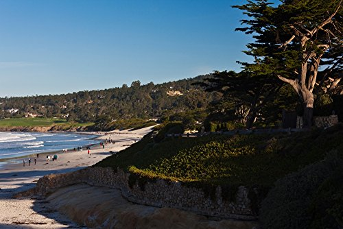 Coastline Carmel Beach Carmel-By-The-Sea California USA Poster Print (27 x 9)