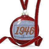 Christmas Decoration Orange vintage looking Year 1946 Ornament