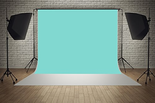 7x5ft Microfiber Tiffany Blue Portrait Background Baby Shower Wedding Party Decorations Photo Booth Backdrop Seamless Collapsible Washable and No - Outlet Tiffany