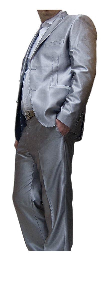 newest 43b01 c65da Paco Romano Designer Anzug Herren leicht glänzend tailliert ...