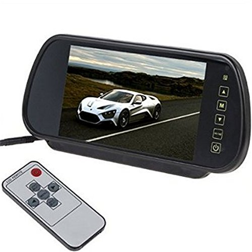 Soled 7'' Inches 16:9 TFT LCD Widescreen Car Rearview Monitor Mirror with Touch Button