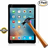 SOOYO Shatter-Proof Bubble-Free Tempered Glass Screen Protector for iPad Air Air2 (2-Pack)