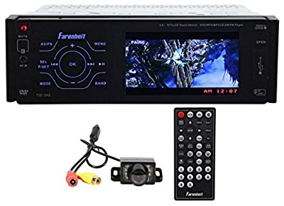 "Package: Farenheit TID-360 3.6"" In-Dash Monitor / DVD Receiver With USB, AM/FM Radio, Built In 50x4 Watt Amplifier + Rockville RBC1 Rear View Backup Car Camera"