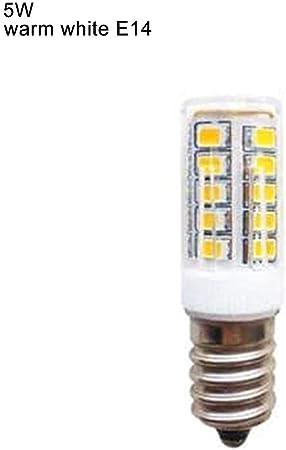 E14 Bombilla LED para Refrigerador Campana Extractora 5W 220v Mini Lámparas Blancas Cálidas: Amazon.es: Hogar