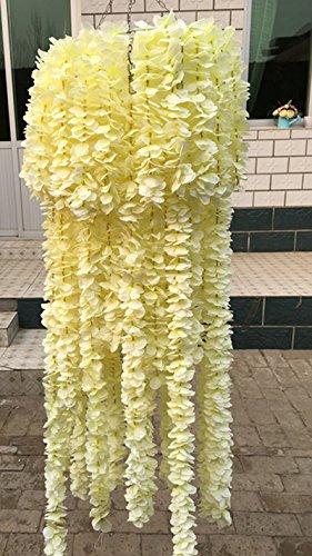 Calcifer-3937-Set-of-10-Artifical-Wisteria-String-Hanging-Silk-Flower-String-for-Garden-Floral-Decoration-DIY-Living-Room-Hanging-Flower-Plant-Vine-Home-Party-Wedding-Simulation-Decor
