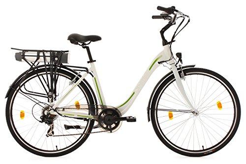 Elektrofahrrad Citybike, CRAVOG Aluminiumrahmen 7 Gang Elektro Mountainbike mit Rücktritt Inkl 10.4Ah / 36V Akku und Ladegerät, Grün , 28 Zoll