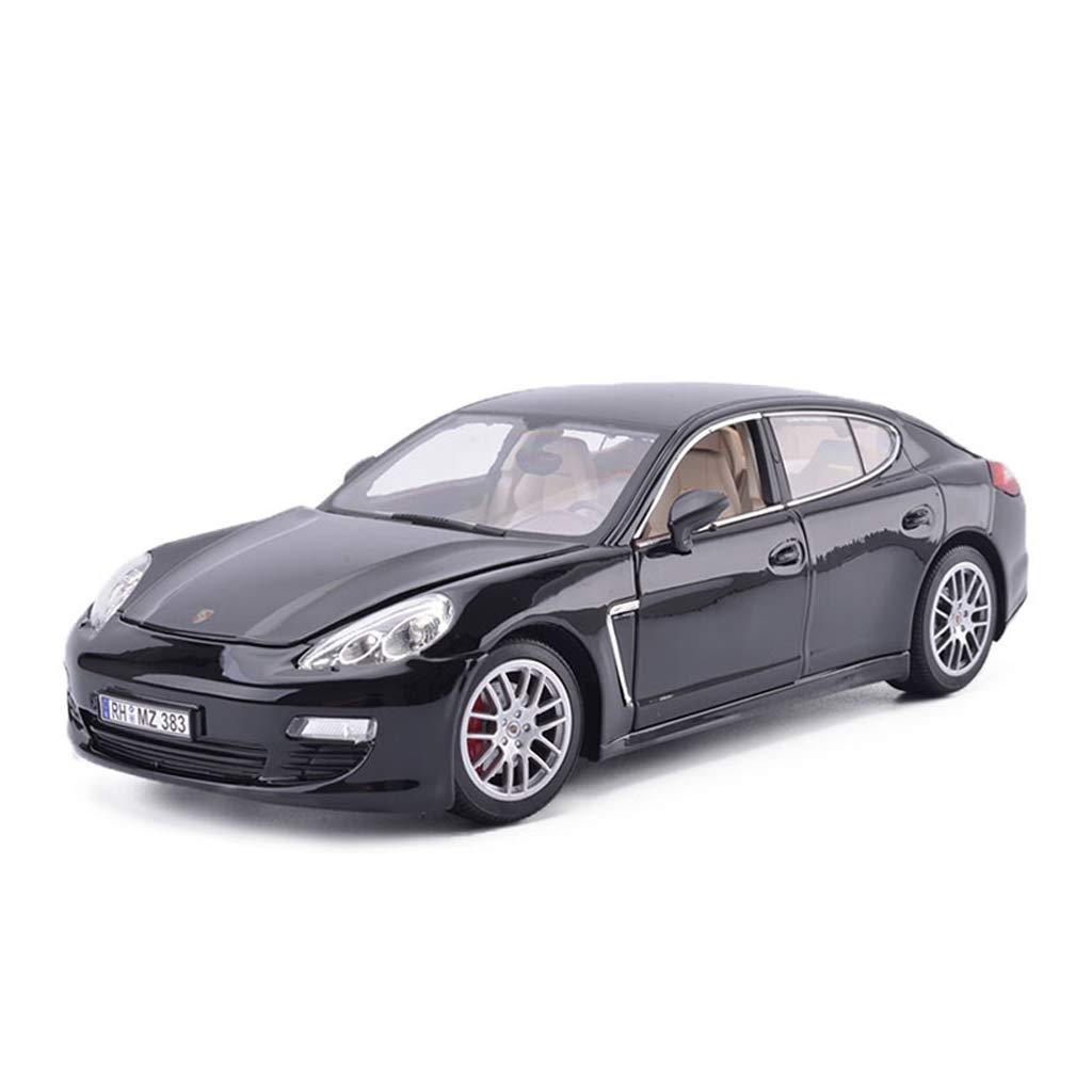 SXET-Model car Model Car Die-Casting Car Model Porsche Panamera Alloy Car Model 1:18 Sports Car Model Decoration Toy Model (Color : Black)