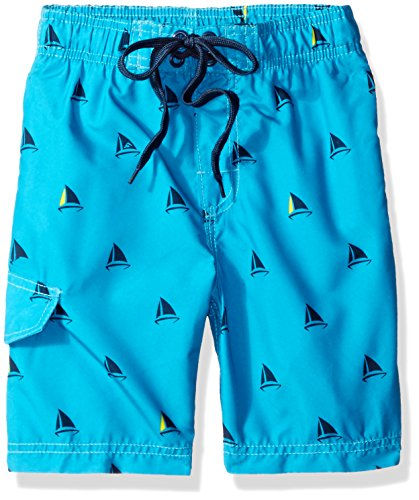 Kanu Surf Big Boys' Barracuda Quick Dry Beach Swim Trunk, Regatta Aqua, Small (8) -