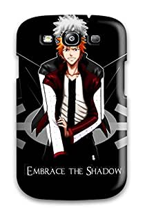 [akUzKaz3487bxKQK]premium Phone Case For Galaxy S3/ Black Bleach Desktop Tpu Case Cover